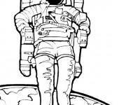 Coloriage Astronaute couleur