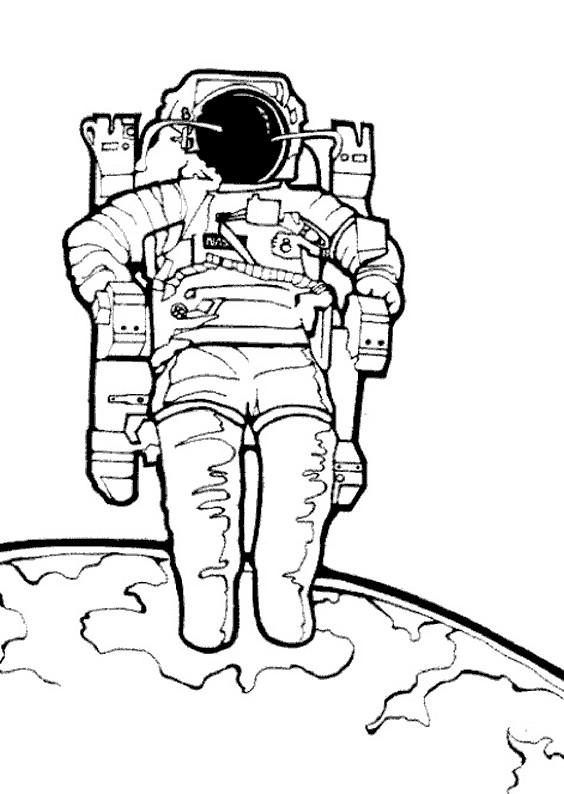 Coloriage et dessins gratuits Astronaute couleur à imprimer