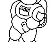 Coloriage Astronaute dessin enfant facile
