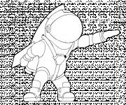 Coloriage Astronaute dessin facile