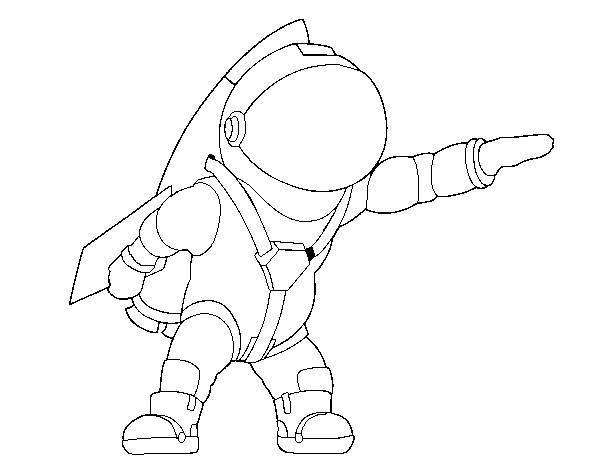 Coloriage et dessins gratuits Astronaute dessin facile à imprimer