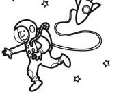 Coloriage dessin  Astronaute en ligne