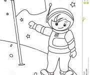 Coloriage et dessins gratuit Astronaute lune à imprimer