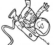 Coloriage et dessins gratuit Astronaute portant la combinaison spatiale à imprimer