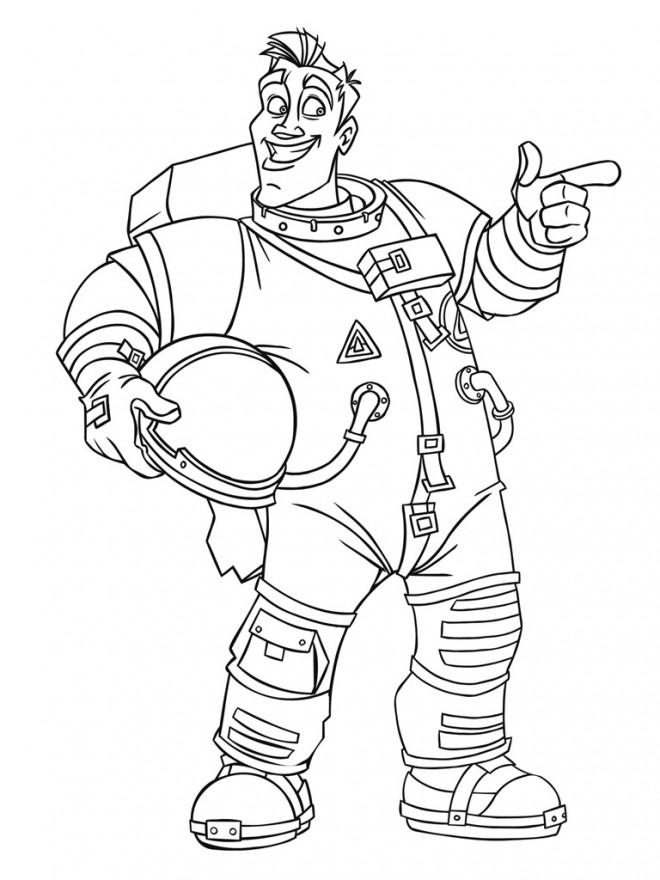 Coloriage et dessins gratuits Astronaute porte son casque à imprimer