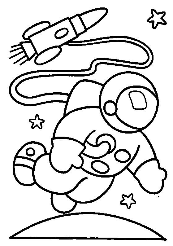 Coloriage et dessins gratuits Astronaute Tenue à imprimer