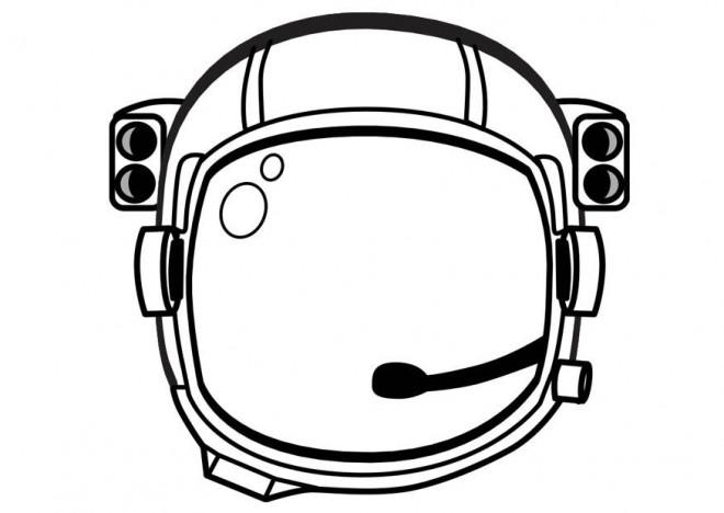 Coloriage et dessins gratuits Casque de cosmonaute à imprimer
