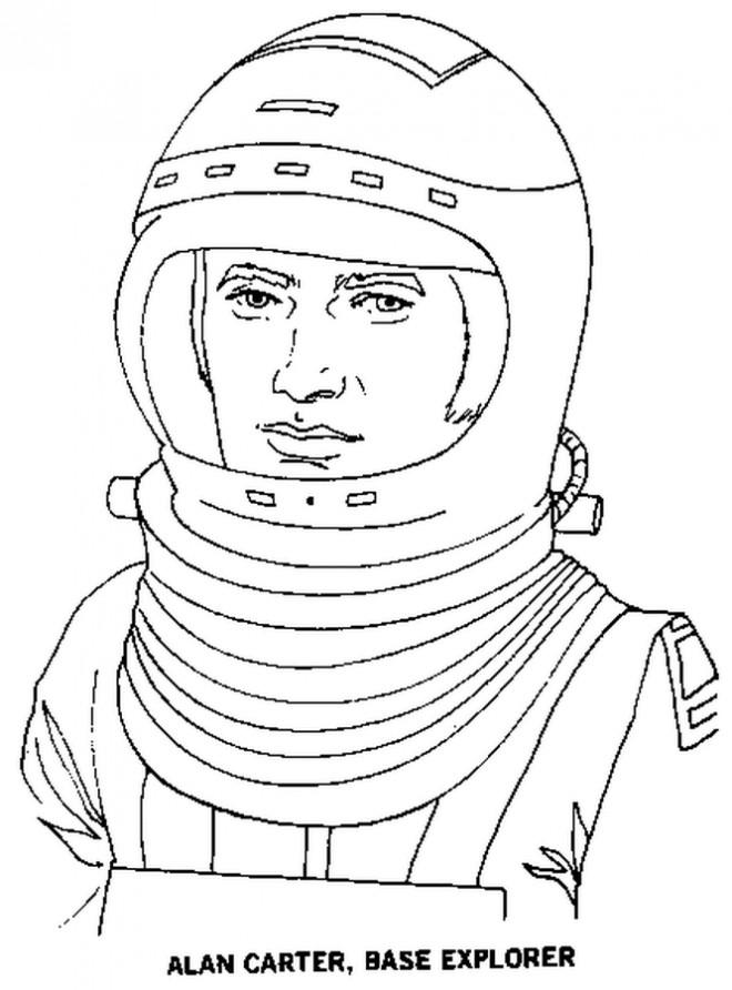 Coloriage et dessins gratuits Cosmonaute adulte à imprimer