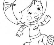 Coloriage et dessins gratuit Cosmonaute dessin animé à imprimer