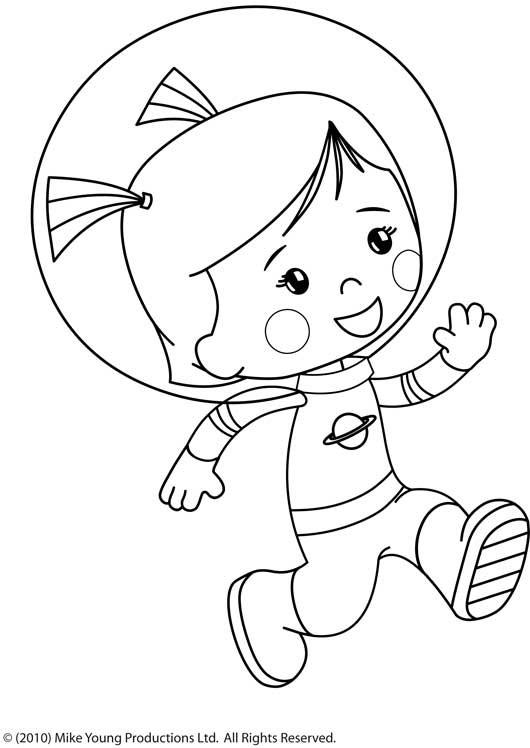 Coloriage et dessins gratuits Cosmonaute dessin animé à imprimer