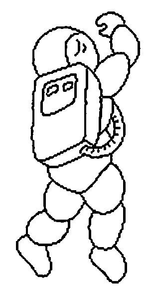 Coloriage Cosmonaute Dessin Pixel Facile Dessin Gratuit à