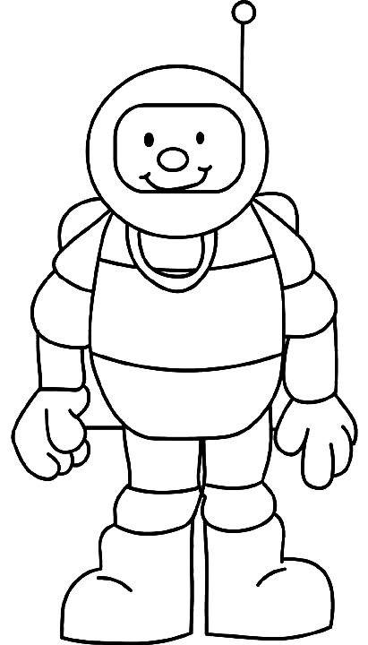 Coloriage et dessins gratuits Cosmonaute tout en souriant à imprimer