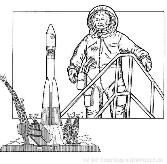 Coloriage et dessins gratuits Navette spatiale à imprimer