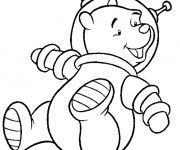 Coloriage Ours Astronaute
