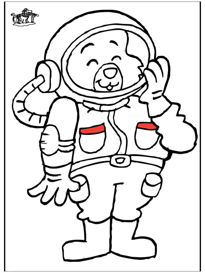 Coloriage Ours cosmonaute pour enfant dessin gratuit à ...