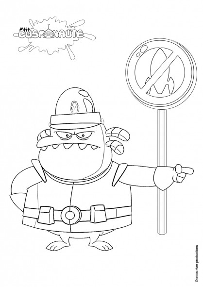 Coloriage et dessins gratuits Policier Alien à imprimer