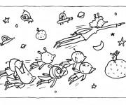 Coloriage dessin  Samsam cosmonaute