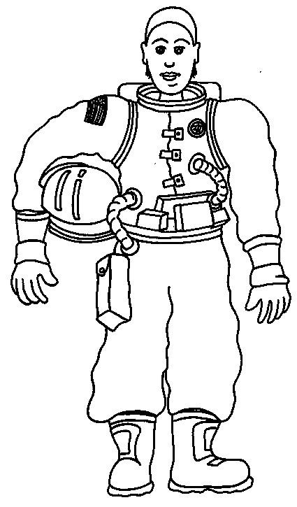 Coloriage et dessins gratuits Tenue de cosmonaute à imprimer