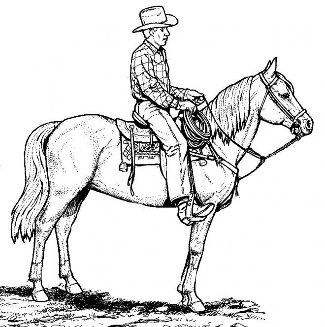 Coloriage et dessins gratuits Cowboy couleur à imprimer