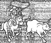 Coloriage Cowboy Country