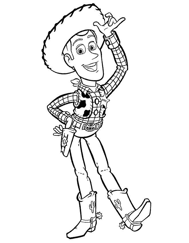 Coloriage et dessins gratuits Cowboy dessin animé à imprimer