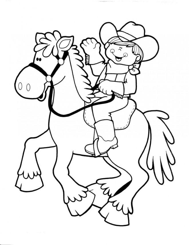 Coloriage et dessins gratuits Cowboy Disney à imprimer