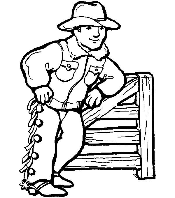Coloriage et dessins gratuits Cowboy en couleur couleur à imprimer