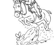 Coloriage Cowboy et  le cheval rapide