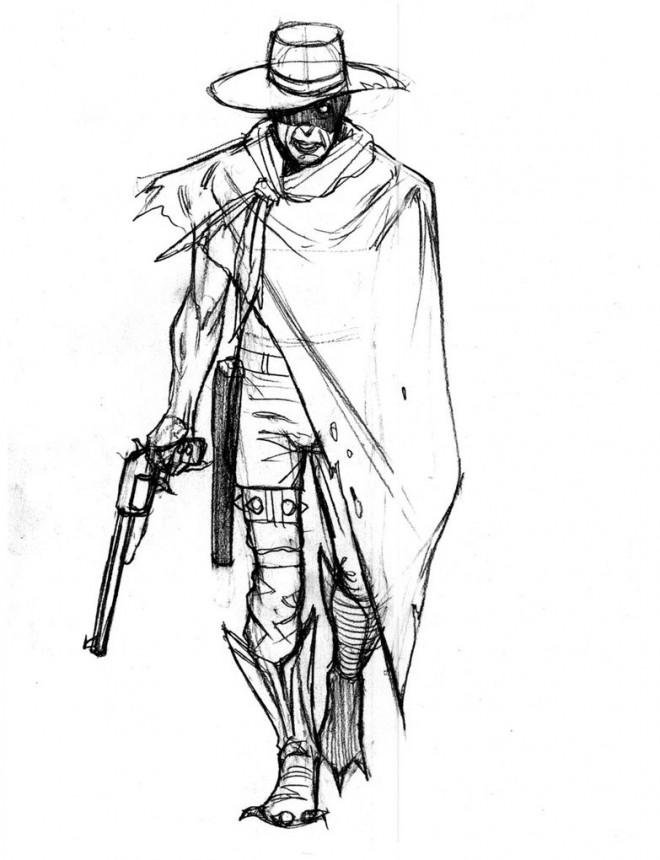 Coloriage cowboy et pistolet en couleur dessin gratuit imprimer - Pistolet a colorier ...