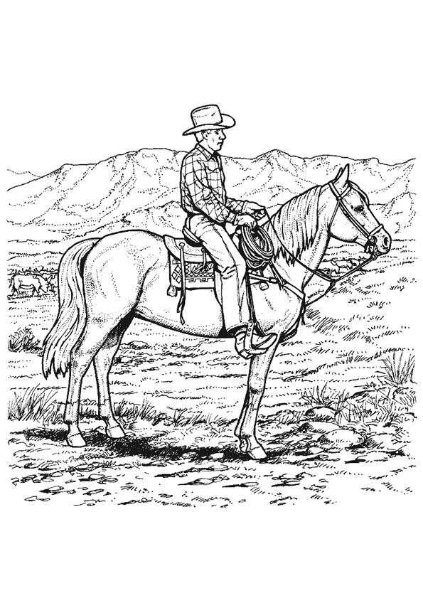 Coloriage Cowboy Et West Dessin Gratuit A Imprimer