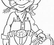 Coloriage Cowboy mignon