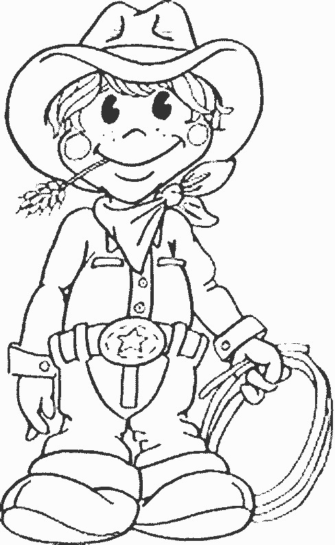 Coloriage et dessins gratuits Cowboy mignon à imprimer