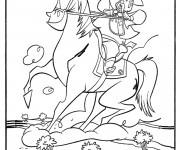 Coloriage Cowboy Sheriff