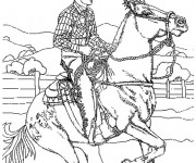 Coloriage Cowboy western