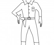 Coloriage Cowboy western en ligne