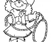 Coloriage Cowgirl mignonne