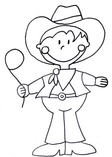 Coloriage et dessins gratuits Enfant Cowboy à imprimer