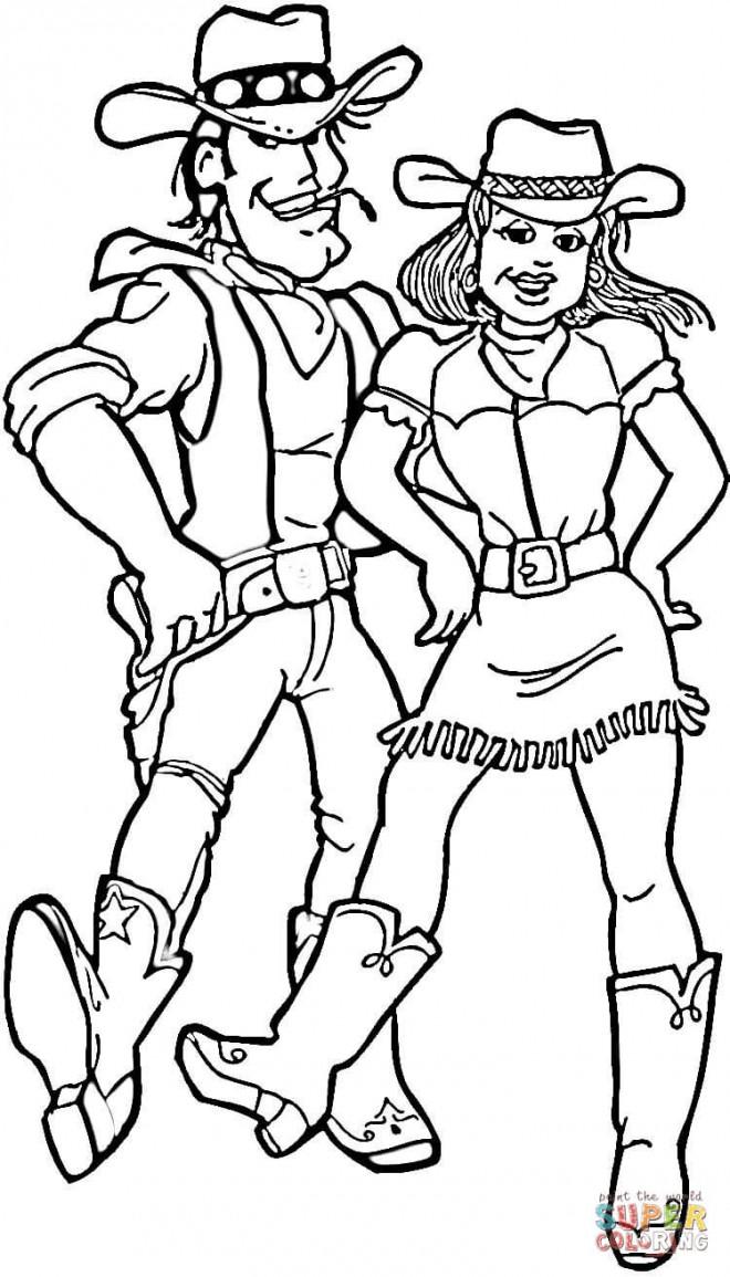 Coloriage et dessins gratuits Les Cowboys à imprimer