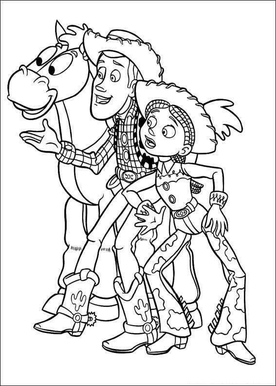 Coloriage et dessins gratuits Les Cowboys et leur cheval à imprimer