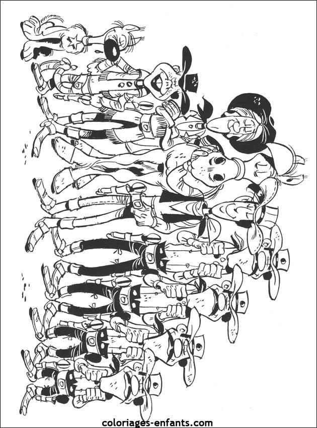 Coloriage et dessins gratuits Lucky Luke et toute la bande à imprimer