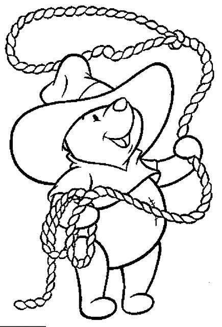 Coloriage et dessins gratuits Ours Cowboy à imprimer