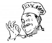 Coloriage et dessins gratuit Chef cuisinier à imprimer