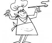 Coloriage et dessins gratuit Chef Cuisinier parfait à imprimer