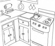 Coloriage et dessins gratuit Cuisine de la maison à imprimer