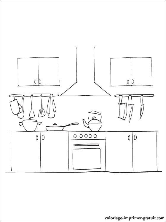 coloriage cuisine 233l233ments et ustensiles