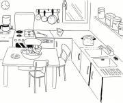Coloriage et dessins gratuit Cuisine maternelle simple à imprimer