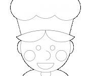 Coloriage dessin  Cuisinier 11