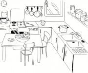 Coloriage dessin  Cuisinier 5