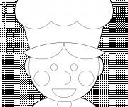 Coloriage et dessins gratuit Cuisinier et toque à imprimer
