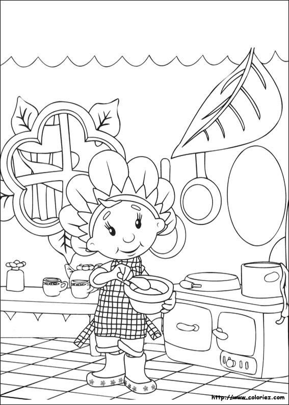 Coloriage Cuisinière Mignonne Dessin Gratuit à Imprimer